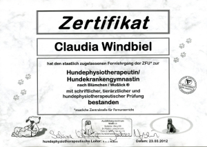 zertifikat claudia w.100